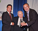 Irving accepting The Positive Living Award from the  Alliance for Aging   11-4-2010