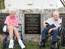 Jeane and Irving Eyster plaque dedication at Founders Park for the donation of the Pacific Light. 12-12-13